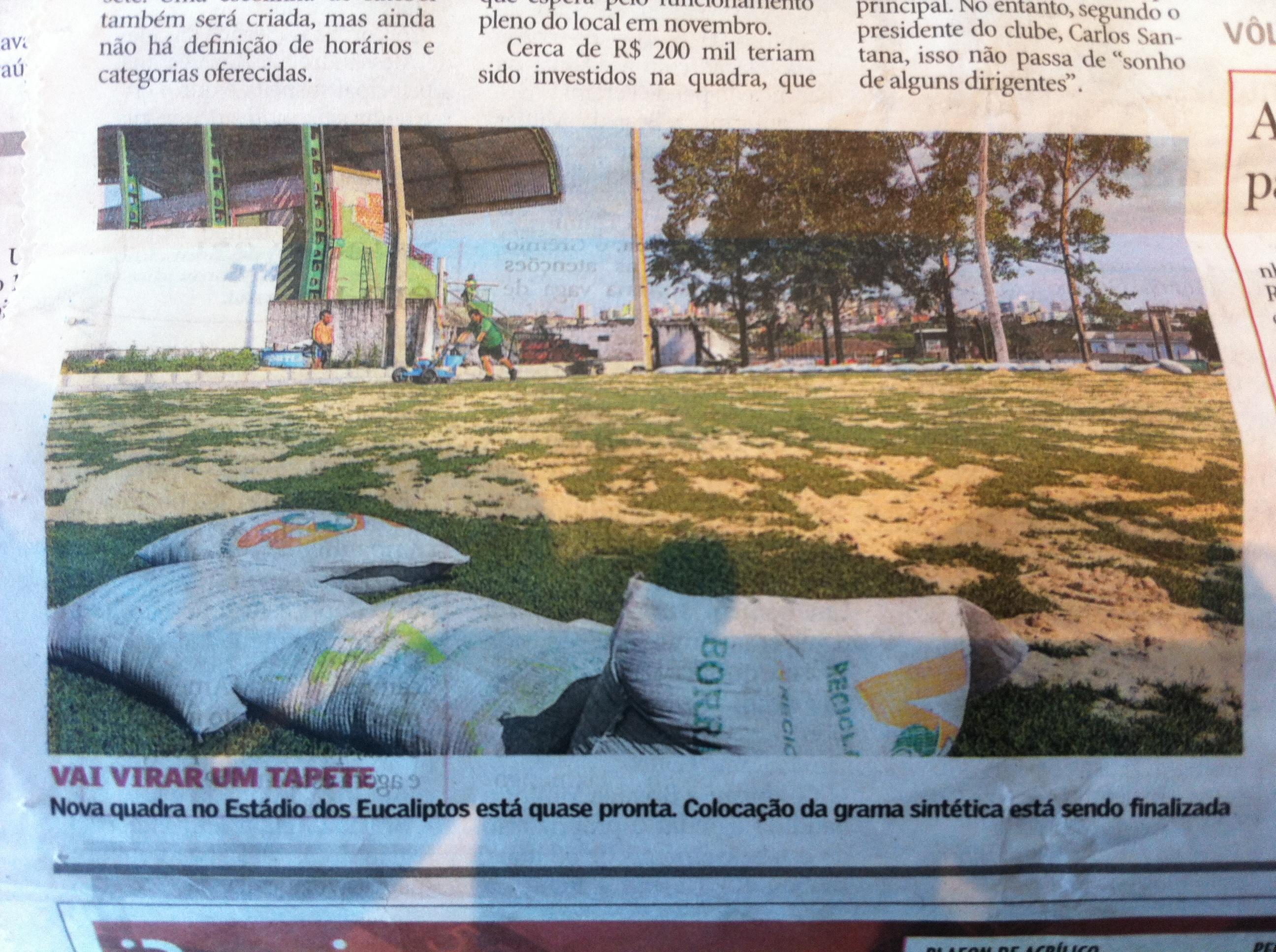 Quadra de grama sintética - Clube Riograndense - Santa Maria / Rio Grande do Sul
