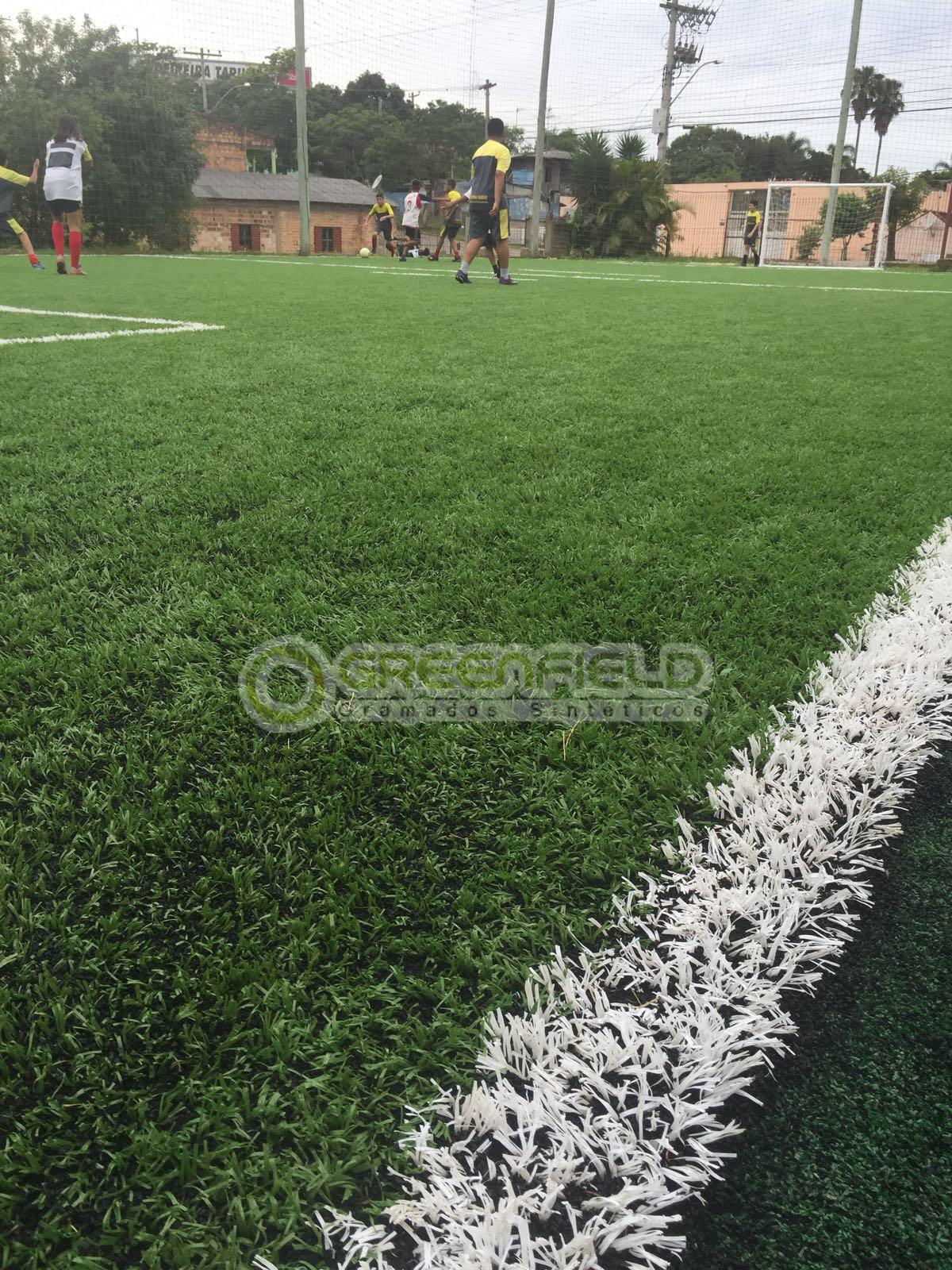 Grama sintética Fibrilada para Futebol